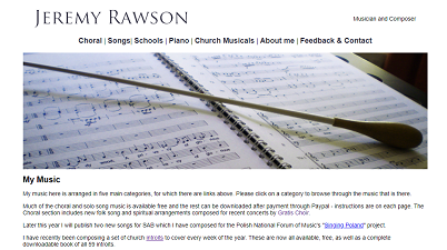 Jeremy Rawson - composer, music and piano teacher